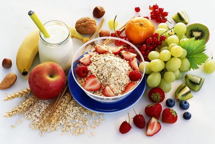 полезные фрукты и злаки